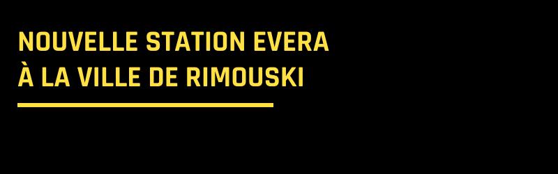 La borne EVera débarque à Rimouski!